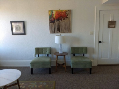waiting room of counseling office in Asheville, NC