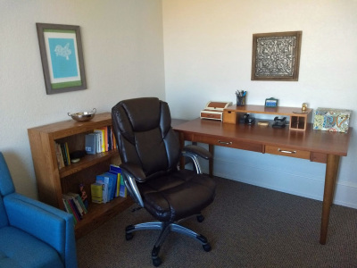 therapy room of counseling office in Asheville, NC