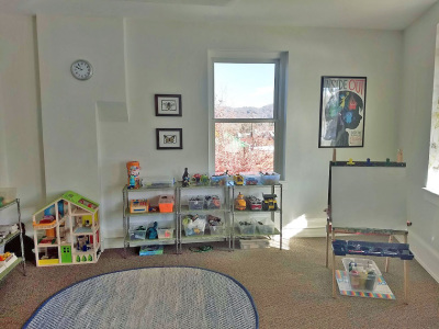 play room of play therapy office in Asheville, NC